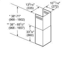 9'-12' Ceilings Pyramid Chimney Ext Kit