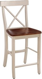 "24"" X Back Stool Espresso & Almond Product Image"