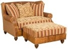 Lucy Leather Fabric Settee, Lucy Ottoman Product Image