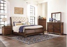 Trisha Yearwood Queen Sleigh Bedroom Group: King Sleigh Bed, Nightstand, Dresser & Mirror