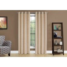 "CURTAIN PANEL - 2PCS / 54""W X 84""H BEIGE ROOM DARKENING"