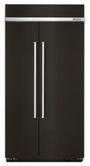 25.5 cu. ft 42-Inch Width Built-In Side by Side Refrigerator with PrintShield™ Finish - Black Stainless
