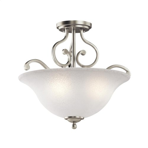 Camerena Collection Camerena 3 Light Semi Flush Ceiling Light NI