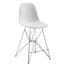 Zip Counter Chair White