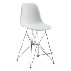 Zip Counter Chair White Product Image