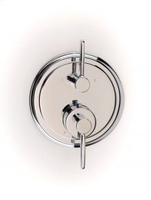Darby Dual-control Thermostatic Valve with Volume Control and Diverter Trim - Polished Chrome