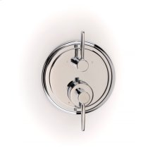 Darby Dual-control Thermostatic Valve Trim with Volume Control and Diverter - Polished Chrome