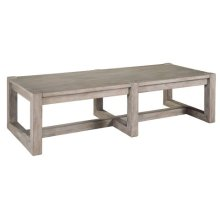 Berkeley Heights Rectangular Wood Top Coffee Table