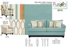 9210 - Sofa - Stallion Turquoise