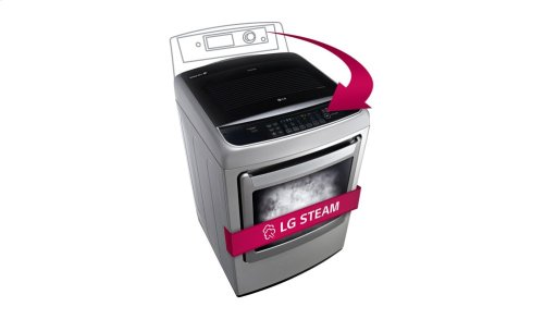 7.3 cu.ft. Ultra Large Capacity High Efficiency Front Control SteamDryer with SteamFresh