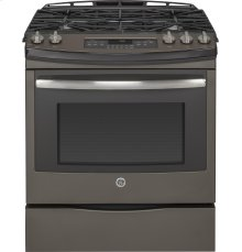 "RED HOT BUY! GE® 30"" Slide-In Front Control Gas Range"