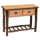 Two Drawer Sofa Table Rustic Alder