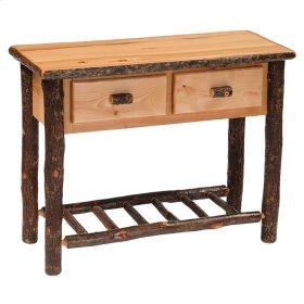 Two Drawer Sofa Table - Cinnamon