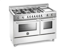White 48 Six-Burner Gas Range Electric Griddle