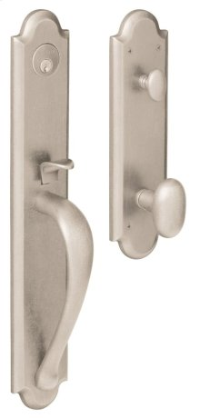 Satin Nickel with Lifetime Finish Boulder Full Handleset