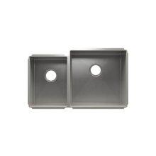 """J7® 003953 - undermount stainless steel Kitchen sink , 12"""" × 16"""" × 8""""  18"""" × 18"""" × 10"""""""