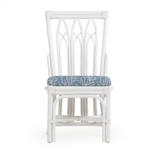 Rattan Dining Side Chair White 8111