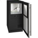 "Ada Collection 15"" Nugget Ice Machine With Stainless Solid Finish and Field Reversible Door Swing (115 Volts / 60 Hz) Product Image"