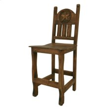 "24"" Barstool W/Wood Seat and Star Medio Finish"