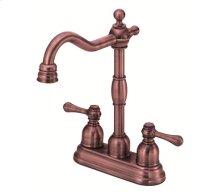 Antique Copper Two Handle Bar Faucet