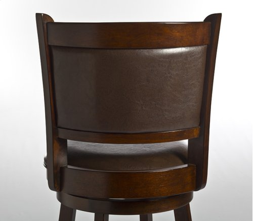 Dennery Swivel Barstool W/brown Vinyl