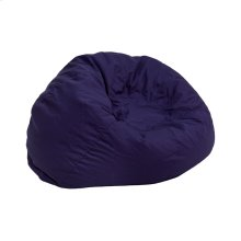Small Solid Navy Blue Kids Bean Bag Chair