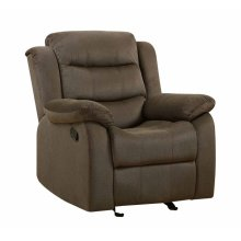 Rodman Casual Chocolate Glider Recliner