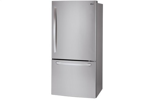 "24 cu. ft. Large Capacity Bottom Freezer Refrigerator with Ice Maker (Fits a 33"" Opening)"