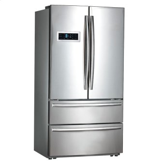 MWS21FSKSS - Stainless Steel Moffat 20.8 Cu.Ft. Counter Depth French-Door Refrigerator with Factory Installed Icemaker