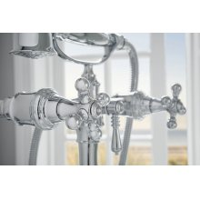 Two-handle Tub Filler Trim Kit With Cross Handles