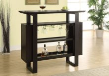 "HOME BAR - 48""L / CAPPUCCINO WITH BOTTLE / GLASS STORAGE"