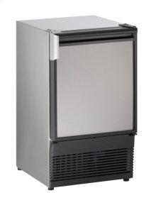"""Marine Series 15"""" Marine Crescent Ice Maker With Stainless Solid Finish and Field Reversible (no Flange) Door Swing (115 Volts / 60 Hz)"""