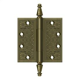 """4 1/2""""x 4 1/2"""" Square Hinges - Antique Brass"""
