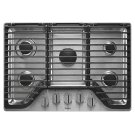 Whirlpool 30 inch 5 Burner Gas Cooktop with EZ-2-Lift Hinged Cast-Iron Grates Product Image