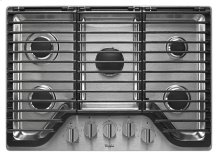 30 inch 5 Burner Gas Cooktop with EZ-2-Lift Hinged Cast-Iron Grates