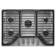 Whirlpool 30 inch 5 Burner Gas Cooktop with EZ-2-Lift Hinged Cast-Iron Grates