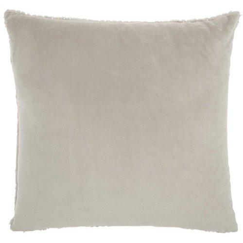 """Fur Vv021 Lt Grey 1'10"""" X 1'10"""" Throw Pillow"""