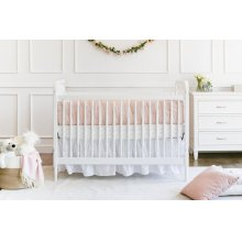White Liberty 3-in-1 Convertible Spindle Crib with Toddler Bed Conversion Kit