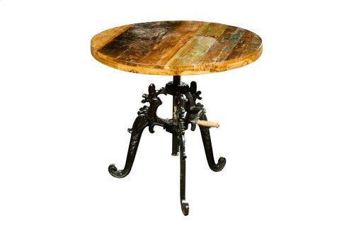 Iron Lift-Top Table, Solid Wood Top