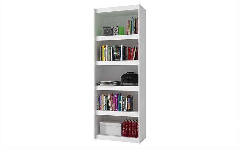 Parana Bookcase 3.0 with 5 shelves in White