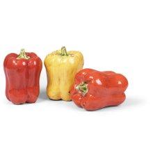 Ceramic Pepper Sculptures, s/3