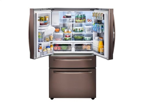 22 cu. ft. 4-Door French Door, Counter Depth Refrigerator with Food Showcase in Tuscan Stainless Steel