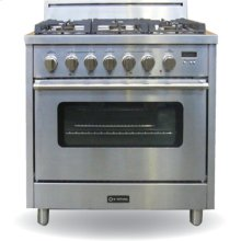 "Stainless Steel 36"" Single Oven Dual Fuel Range"