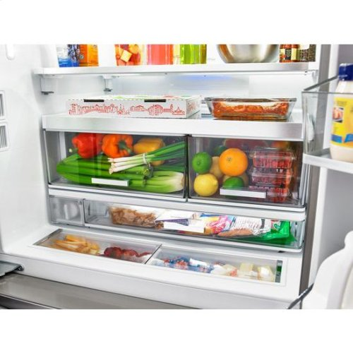 Whirlpool® 36-inch Wide French Door Refrigerator with Infinity Slide Shelf - 32 cu. ft. - Monochromatic Stainless Steel