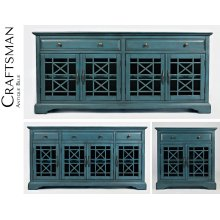 "Craftsman 50"" Media Unit - Antique Blue"