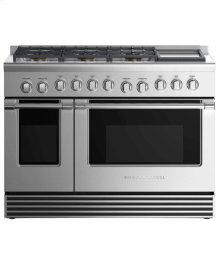 """Dual Fuel Range 48"""", 6 Burners with Griddle"""