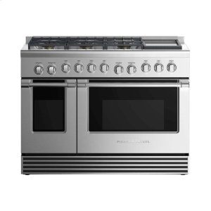 "Fisher & PaykelDual Fuel Range 48"", 6 Burners with Griddle (LPG)"