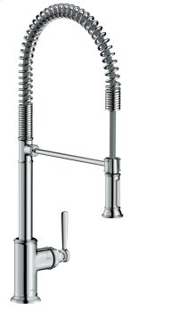 Chrome Single lever kitchen mixer 210 Semi-Pro