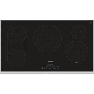 Thermador36-Inch Masterpiece® Touch Control Electric Cooktop, Black, Framed