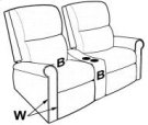 ARMLESS THEATER RECLINER Product Image
